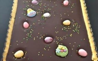 Tarte au chocolat spécial Pâques
