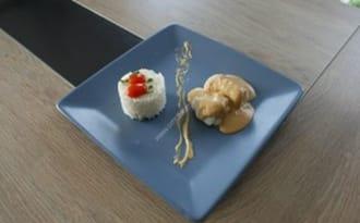 Filet de limande au jus vanillé
