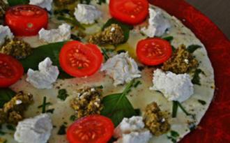 Omelette blanche à la ricotta et tapenade