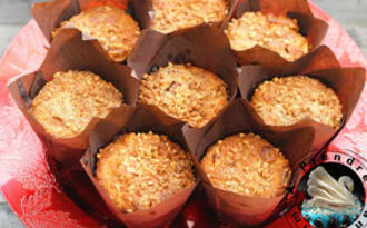 Muffins pomme cannelle amandes à la farine d'épeautre
