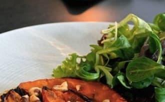 Tarte fine champignons et potimarron
