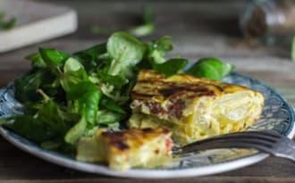 Tortilla espagnole au chorizo
