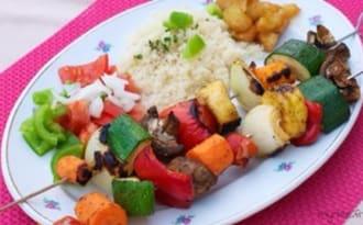 Brochettes végétariennes au barbecue