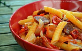 One pan pasta au chorizo et poivron doux du Chili