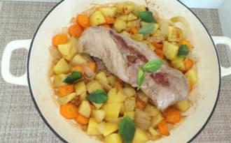 Filet mignon de porc au cumin et basilic thaï