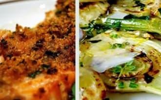 Saumon aux herbes, cuit au barbecue, à la planche de cèdre