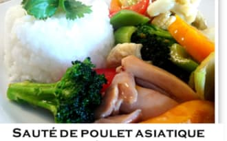 Sauté de poulet asiatique à la marmelade et lait de coco