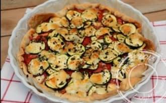 Tarte tomates, courgette et mozzarella
