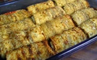 Involtini aux aubergines, thon et mozzarella, antipasti au barbecue, à la plancha
