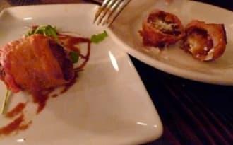 Tapas aux figues, fromage et jambon serrano