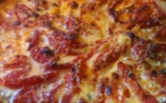 Tarte feuilletée aux aubergines, tomates, mozzarella, parmesan