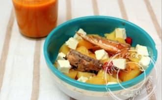 Salade de pomme de terre au maquereau et feta