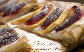 tarte fine aux pommes et prunes