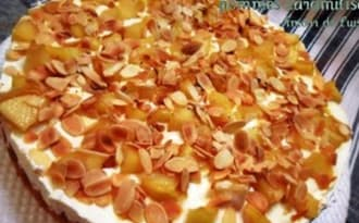 Genoise garnie de mascarpone Pommes Caramelisees