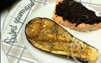 Papillote d'aubergine à l'ail et herbes de Provence