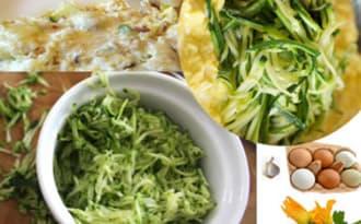 Oeufs brouillés aux courgettes et chèvre doux, plat végétarien