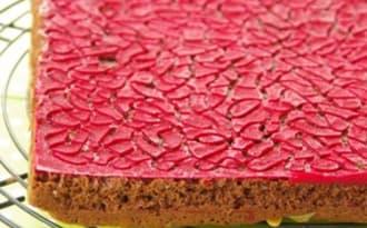 Brownie aux fruits rouges et amandes