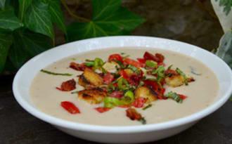 Gaspacho de haricots coco