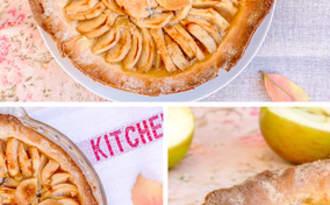 Tarte aux pommes à la bergamote