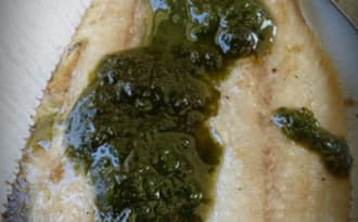 Filets de sardines au pesto.
