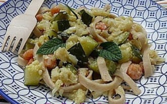Tagliatelles Crevettes Curry