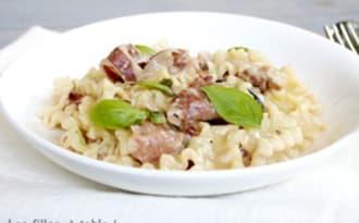 One pot pasta au gorgonzola et aux noix