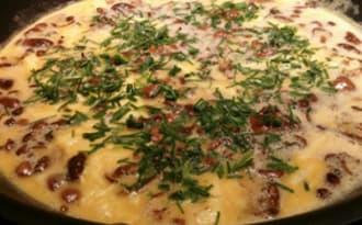 Omelette aux mousserons