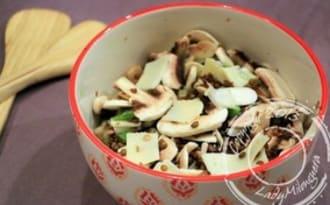 Salade aux lentilles et champignons