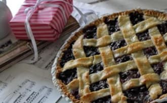 Blueberry pie:TARTE AUX MYRTILLES