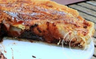Tarte choco-poire, sans gluten et sans lactose