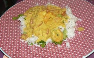 Mon curry de crevette aux courgettes