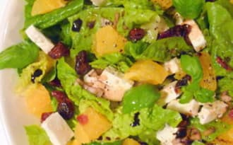 Salade Feta, orange et cranberries