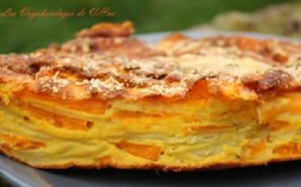 Gâteau invisible au potimarron et mimolette