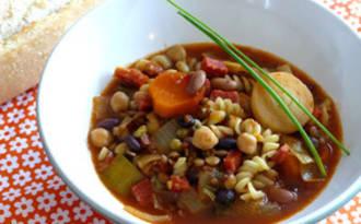 Légumineuses au chorizo et aux épices