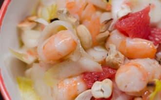 Salade d'endives aux crevettes et au pamplemousse