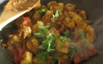 Pommes de terre épicées, sautées comme à Bombay
