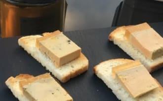 Terrine de foie gras et sa gelée de ratafia de champagne