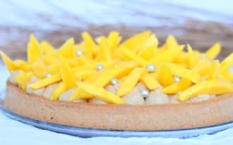 Tarte à la mangue et au parfum de pain d'épices