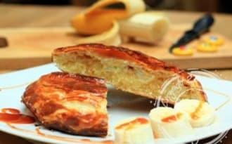 Galettes des Rois à la crème amandes/coco, banane et caramel