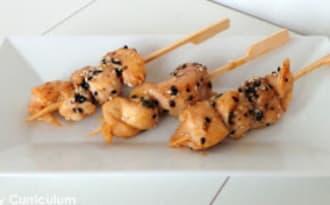 Brochettes de poulet yakitori faciles
