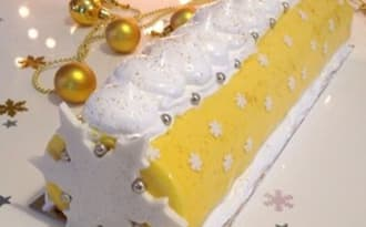 Bûche citron meringuée