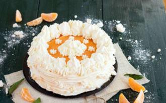 Vacherin glacé à la mandarine