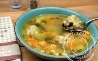 Soupe de légumes anciens aux dumplings