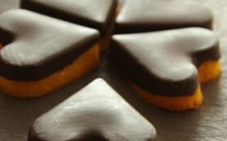 Coeurs de madeleines orange chocolat