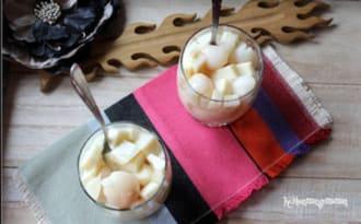 Gelée vanillée aux litchis