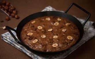 Brownie à la poêle au chocolat, noisette et spéculoos