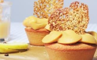 Bouchées caramel beurre salé - pommes et sésame doré