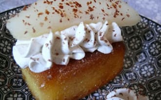 Baba Poire Cardamome Chantilly Vanille
