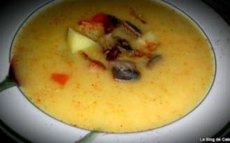 Soupe d'endives, pommes de terre et harengs