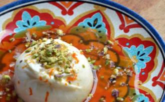 Burrata, Sauce à l'Orange sanguine et Pistaches